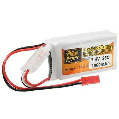ZOP Power 7.4V 1000mAh 25C LiPo Battery with JST Connector for Mini RC Drone