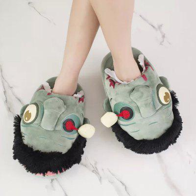 Plush Cartoon Home Cotton Slippers for Man