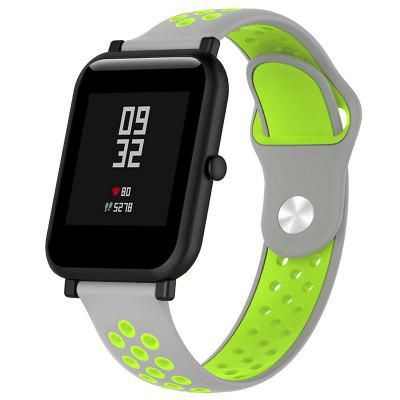Two-color Pore Silicone Back Button Strap for HUAWEI Amazfit
