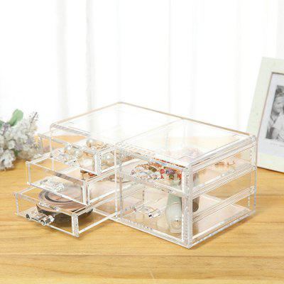 Multi-layer Drawer Transparent Cosmetic Storage Box