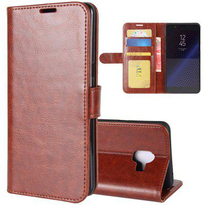 Crazy Horse Mobile Phone Wallet Left And Right Protection Sleeve Samsung C10 Mobile Phone Holster