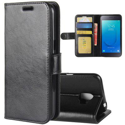 Crazy Horse Mobile Phone Wallet Left And Right Protection Cover Samsung J2 Core Mobile Phone Holster