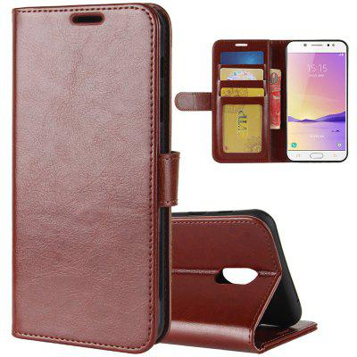 Crazy Horse Mobile Phone Wallet Left And Right Open Protective Cover Samsung C7/C71000 Mobile Phone Holster