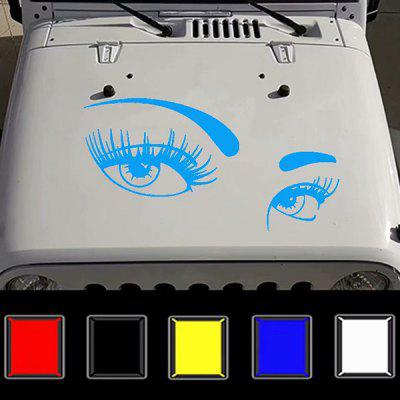 D - 821 Beauty Eyes Totem Car Hood Sticker