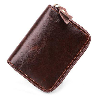 JOYIR Men Classic Card Bag Casual Leather Zipper