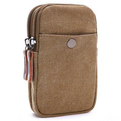 ZUOLUNDUO Canvas Trend Casual Pockets Men's Coin Purse Mobile Phone Bag