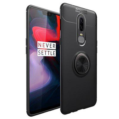 Shatter-resistant Metal Ring Phone Case for OnePlus 6