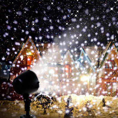 Lampa projekcyjna LED Snowflake Christmas Decoration Light