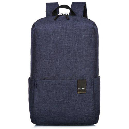 Gearbest gocomma Outdoor Work School Lightweight Backpack - DARK SLATE BLUE