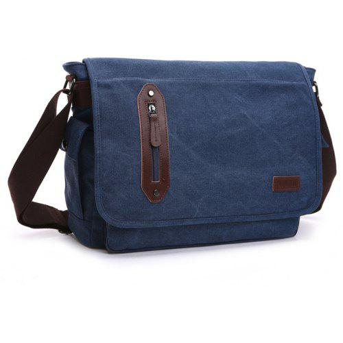 b4e1f39c5132 ZUOLUNDUO Shoulder Messenger Bag Fashion Casual Men Canvas Travel Solid  Color Student Bag