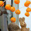 1.2m 10-LED Pumpkin String Light for Halloween Party Decoration - WARM WHITE