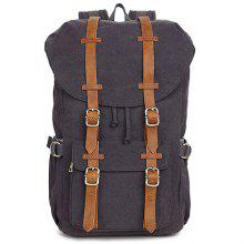 Cotton Canvas Backpack Neutral Casual Outdoor Travel Bag