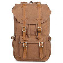 Outdoor Cotton Canvas Neutral Leisure Travel Bag Backpack