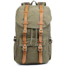 Outdoor Cotton Canvas Backpack Neutral Leisure Travel Bag