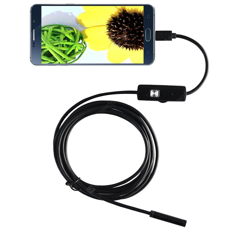 Dodosee A7TR5 1.3 Million Pixel 5m Cord 7mm Lens Industrial Endoscope Auto Repair Pipeline Unlocking Maintenance Camera - Black