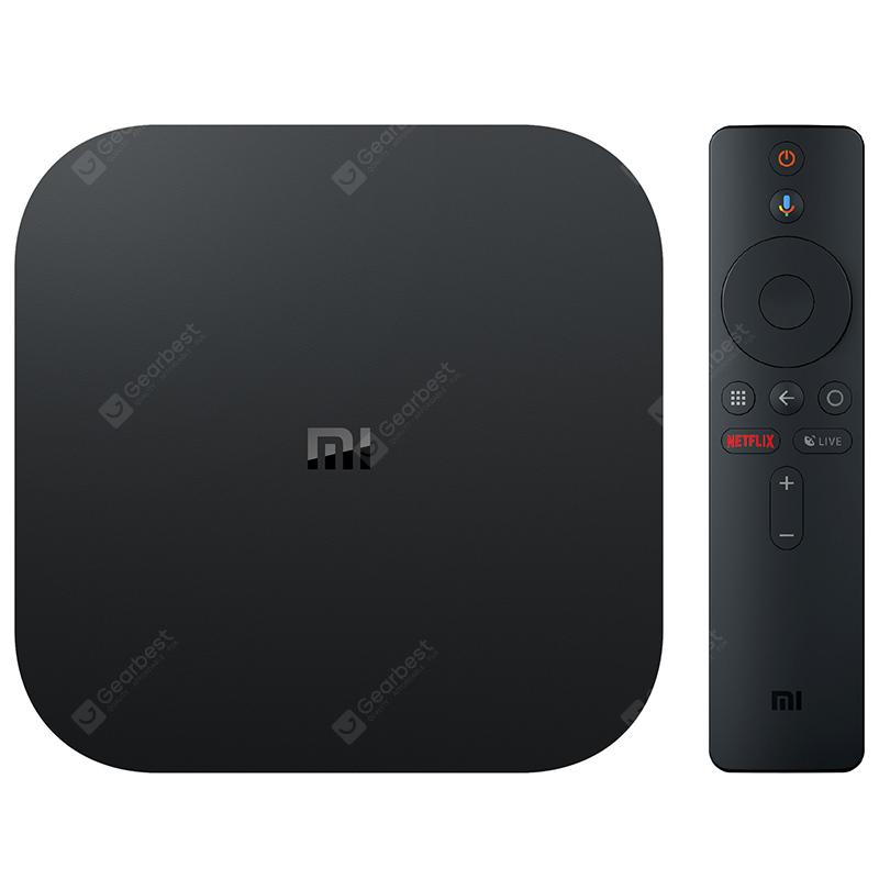 Xiaomi Mi Box S with Google Assistant Remote Official International Version - Black EU Plug