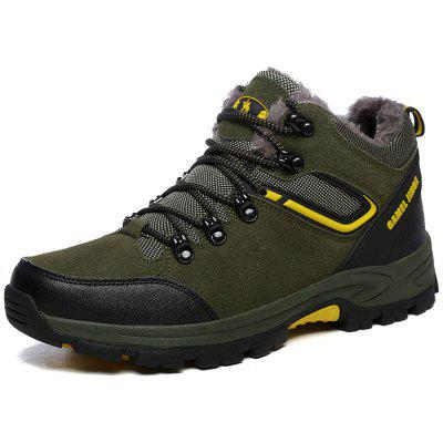 Men Warm Comfortable Hiking Shoes Lace-up Durable