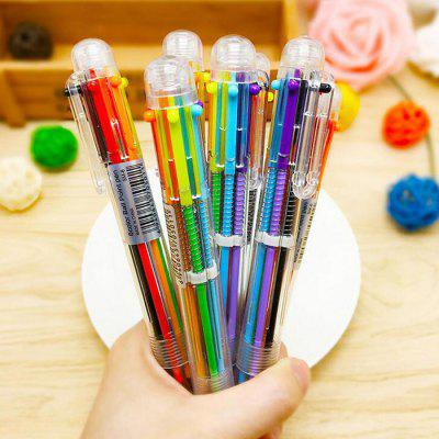 Criativo 6 Color Ball Pen Caneta Esferográfica 1PC