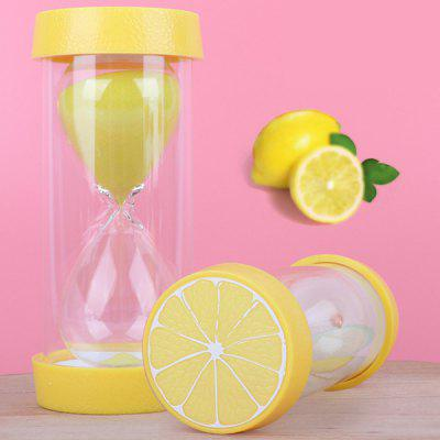 Creative Children Anti-fall Hourglass Toys Fruit Shape Timer Ornaments 1pc
