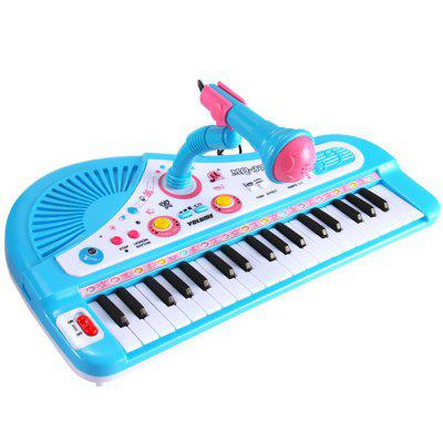 37-key Electronic Keyboard Toy with Microphone