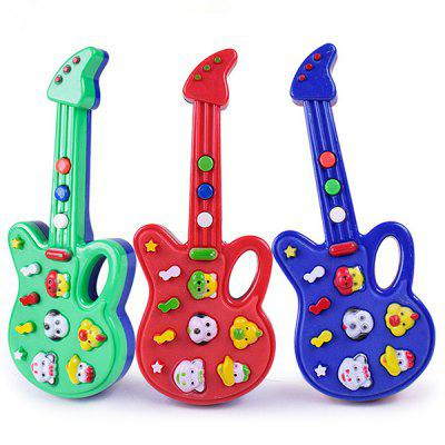 Children Multifunctional Cartoon Electronic Music Guitar Toy
