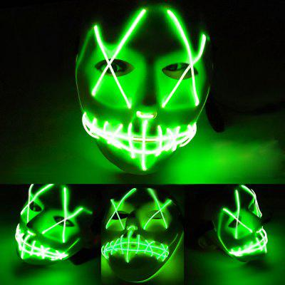 LED Grimace Scary Halloween Glowing Carnival Mask