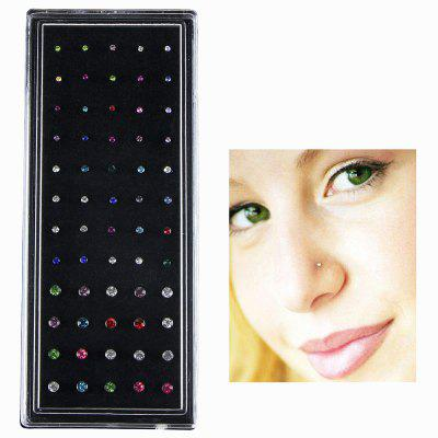 Fashion Stainless Steel Nose Stud 60pcs