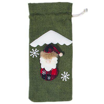 Creative Christmas Red Wine Bottle Bag 3 Color Selection