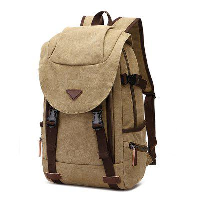 ZUOLUNDUO Men  's Backpack Canvas Computer Bag Casual Out Travel