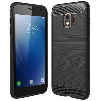 Naxtop Carbon Fiber Soft TPU Non-slip Scratch Protection Cover for Samsung Galaxy J2 Core