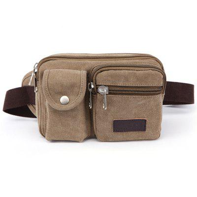 ZUOLUNDUO Men's Waist Bag Casual Fashion Solid Color