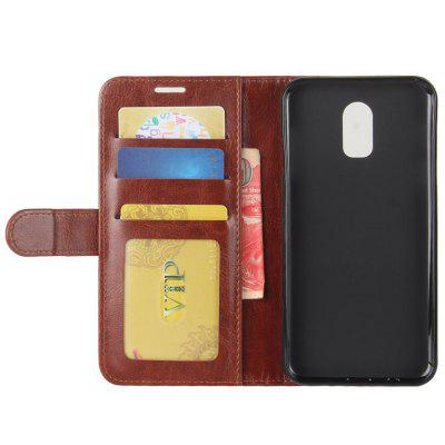 Crazy Horse Mobile Phone Wallet Protective Cover for Samsung J7 Plus / J7310