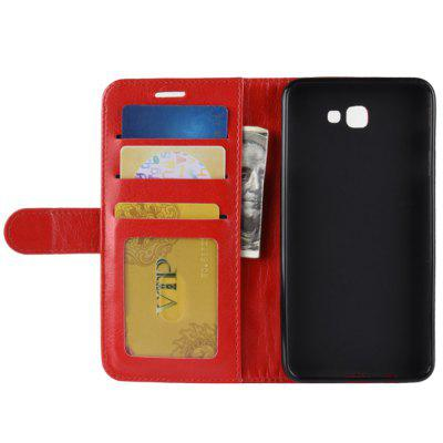 Crazy Horse Mobile Phone Wallet Protective Cover for Samsung Galaxy J7 Prime 2 / G611F