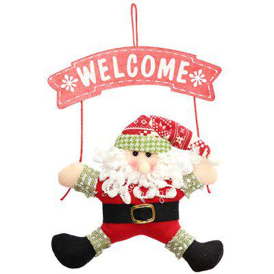 Christmas Santa Claus Cloth Wreath for Door Hanging Decoration
