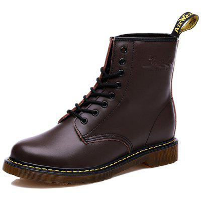 Men Comfortable Boots Stylish Lace-up High-top
