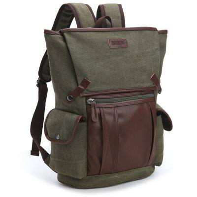 ZUOLUNDUO Canvas Backpack Fashion Casual Travel