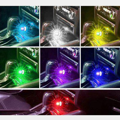 BRELONG Kleurrijke LED Cool USB Spraakbesturing Car Light Decoration