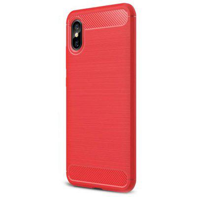 Naxtop Carbon Fiber Brushed Soft TPU Non-slip Phone Cover for Xiaomi Mi 8 Pro