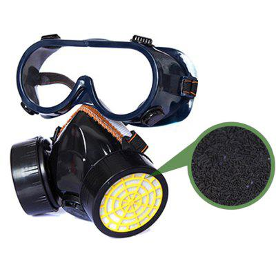 Dual Pot Protective Breathing Gas Mask Respirator
