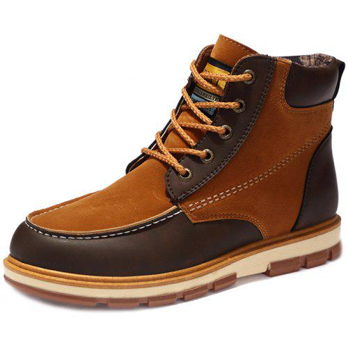 2e1f49977d VANCAT Men Lace-up Boots Comfortable Durable Anti-slip Shoes