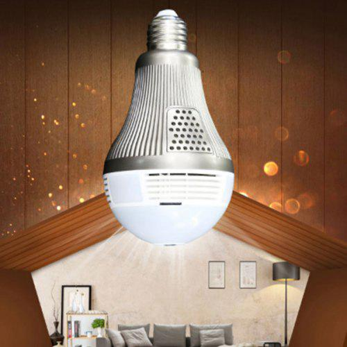 Panoramic View Wi-Fi IP Bulb Security Camera