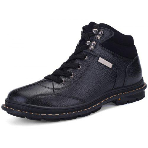 Men Comfortable Lace-up Casual Leather Cotton-padded Boots -  52.60 Free  Shipping ba62eac7dbb5
