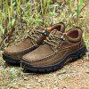 Men's Leather Casual Shoes Fashion Design Outdoor - DEEP BROWN