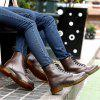 Men Comfortable Boots Stylish Lace-up High-top - BROWN
