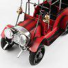 Retro Classic Metal Wrought Iron Car Crafts Ornaments Decoration Gift - CHESTNUT RED
