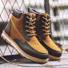 VANCAT Men Lace-up Boots Comfortable Durable Anti-slip Shoes - BROWN