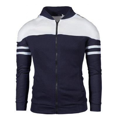 Men's Stand Collar Colorblock Half Zip Sweatshirt