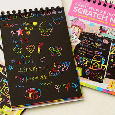 LD - B054 DIY Graffiti Child Colorful Scratch Painting Book