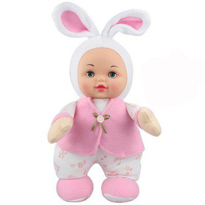 Interactive Sleep Appease Rabbit Baby Doll with Music Plush Toy Christmas Gift