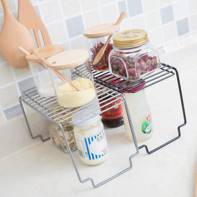Simple Carbon Steel Kitchen Bathroom Storage Rack 1pc